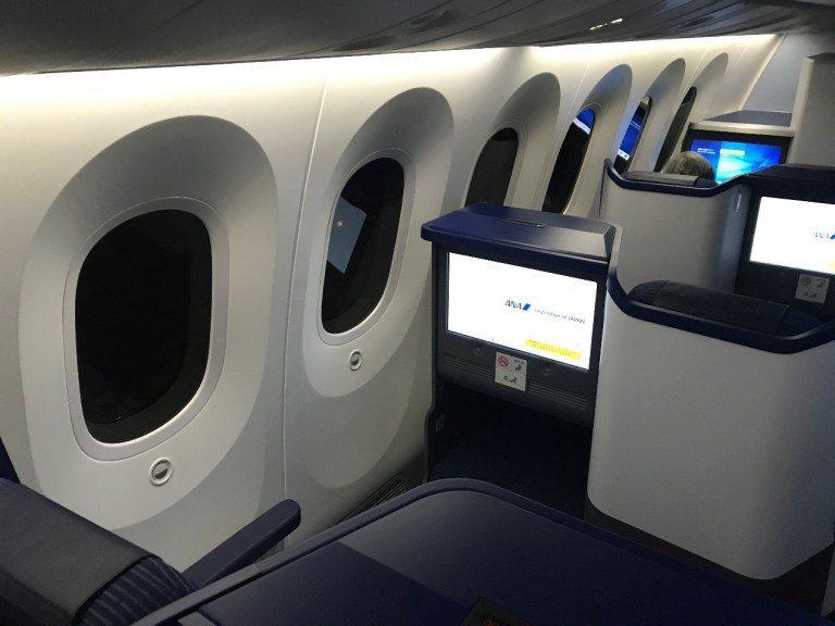 全日空商務艙交錯式排列座椅 圖文來自於:TripPlus