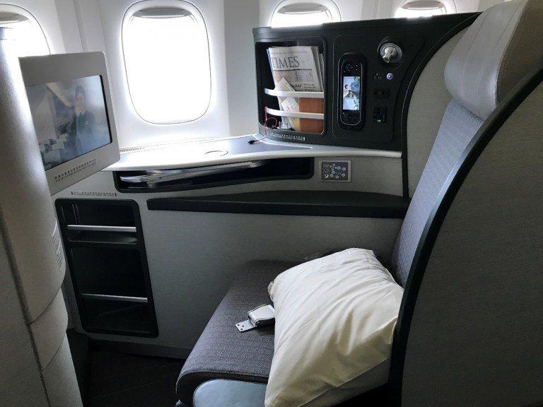 長榮航空長81吋的皇璽桂冠艙座椅 圖文來自於:TripPlus