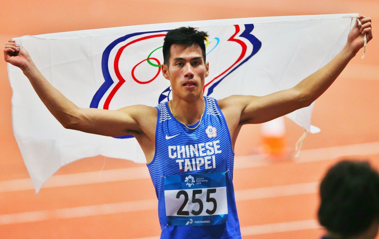 聯邦銀行招開記者會,補足楊俊瀚與國光獎金金牌的差額225萬元。 聯合報系資料照