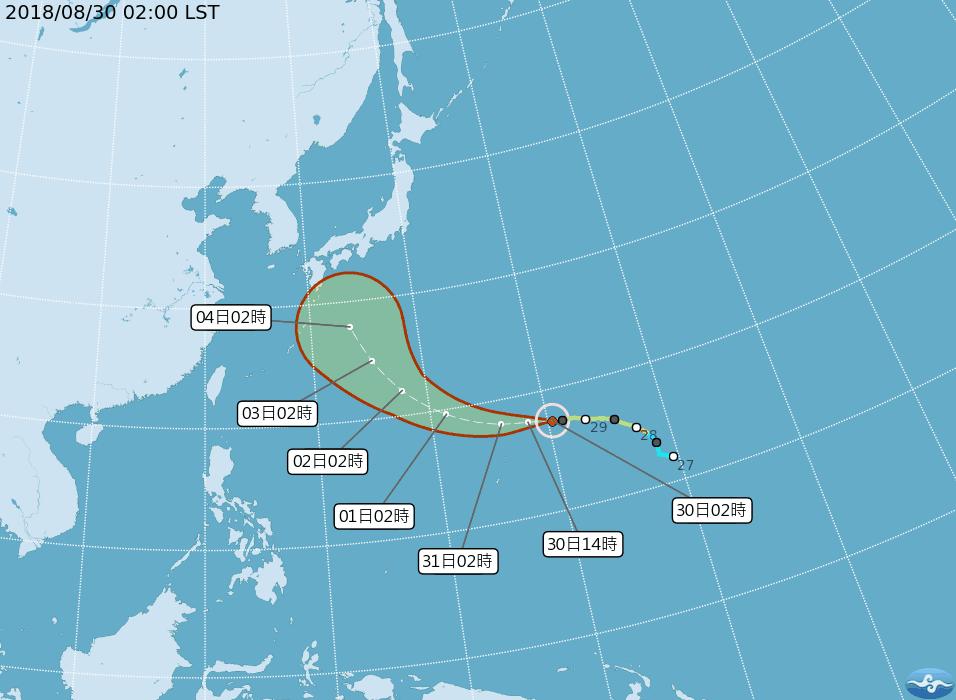 氣象專家吳德榮說今年7、8月颱風數為史上同期第二多。圖/擷自氣象局官網