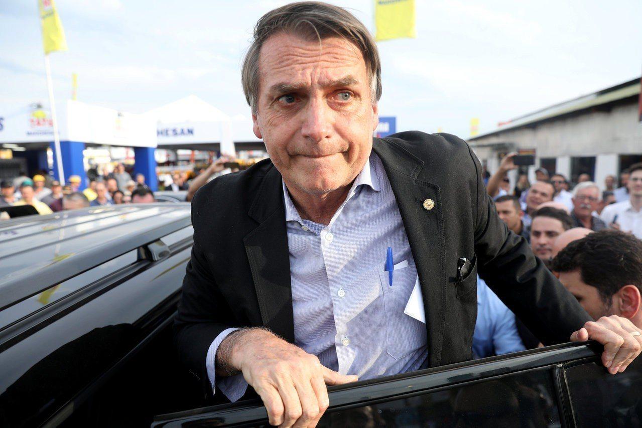 巴西右派總統候選人波索納洛。路透