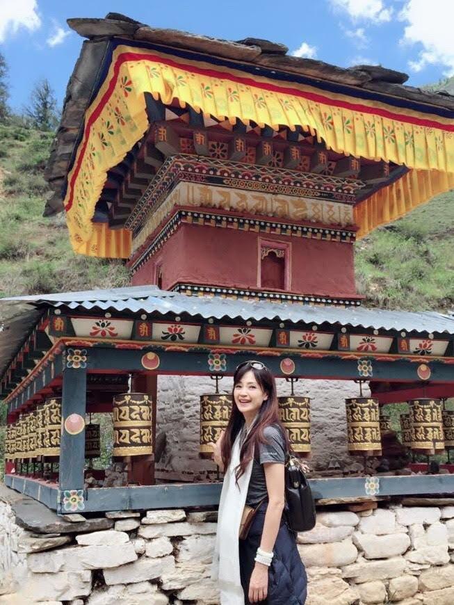 方季惟日前到不丹玩,凍齡外表讓人驚呼。圖/稻禾米糧工作室提供