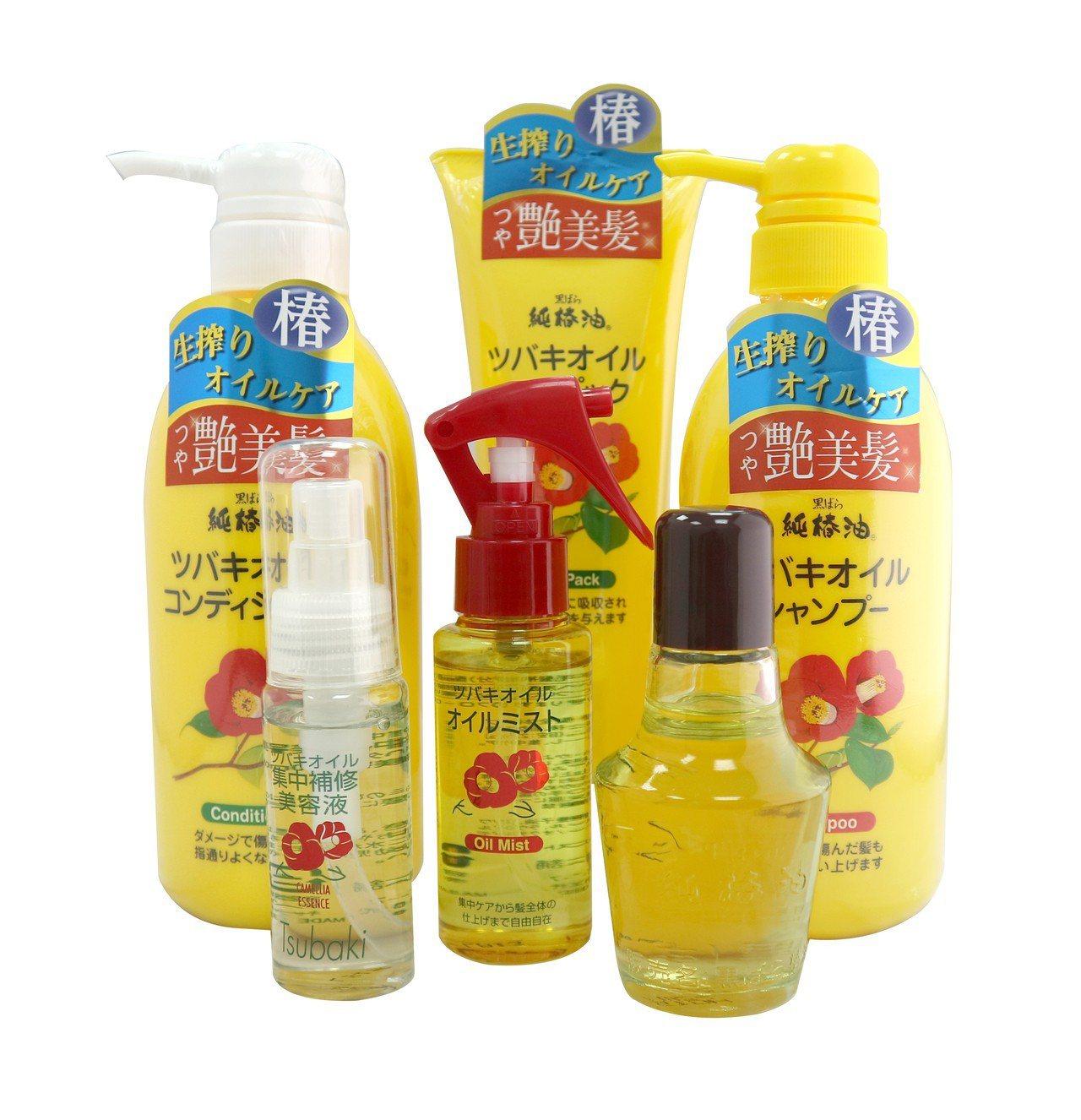 持續熱賣的kurobara山茶花油頭髮護理系列全系列都有折扣。圖/台隆手創館提供
