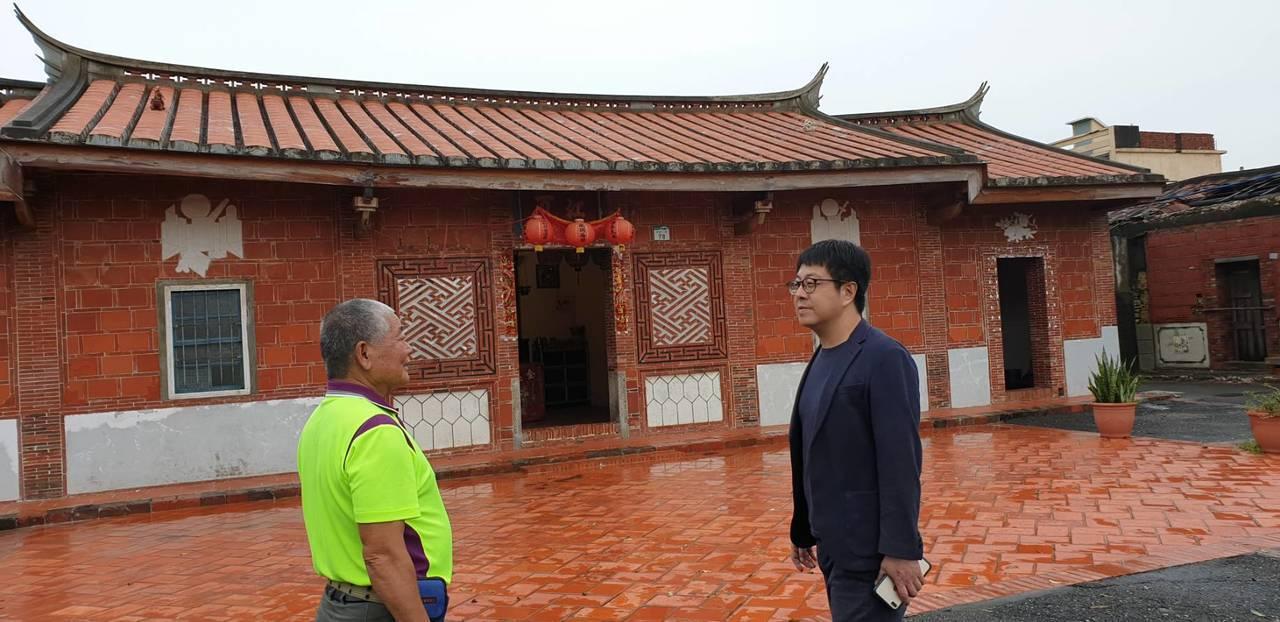 黃家古厝的歷史建築本體在此次的豪大雨中保持完好。圖/高雄市文化局提供