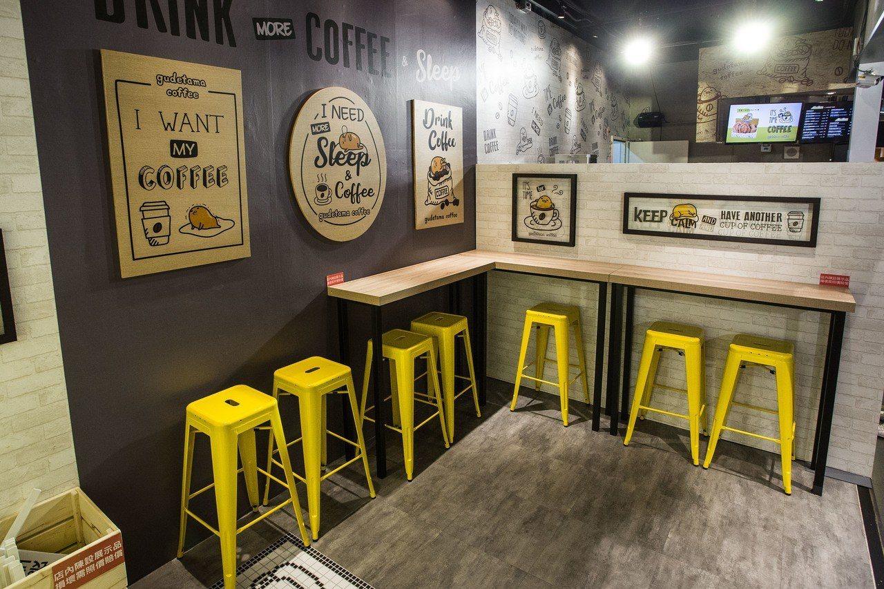 雖以外帶咖啡廳為主,不過點杯咖啡也可以在這裡稍作休息。圖/蛋黃哥不想上班咖啡廳提...