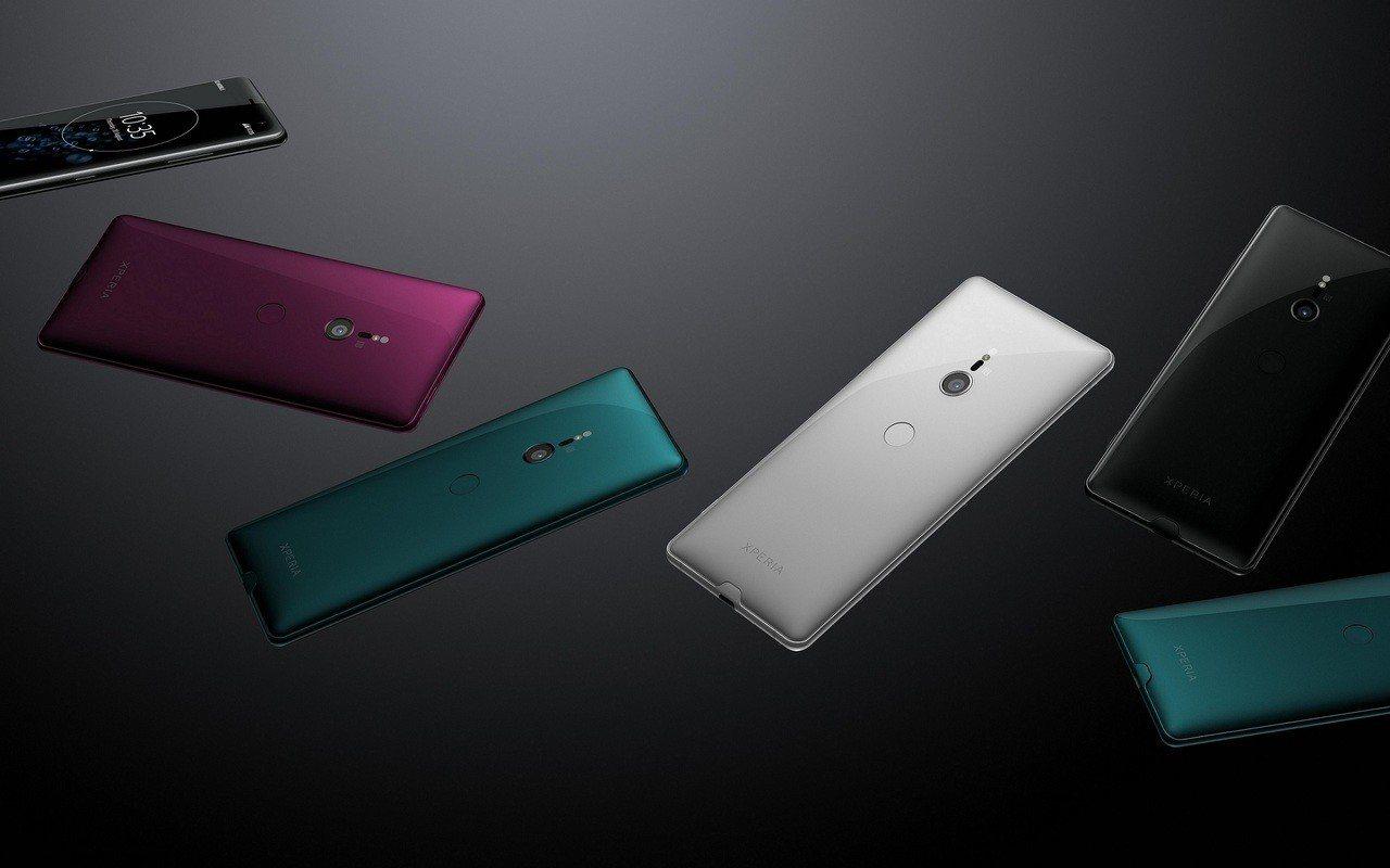 Sony Xperia XZ3共有星宸黑、琉璃銀、青森綠、酒漾紅等4色。圖/So...