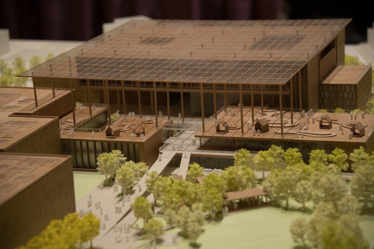國圖南部分館競圖結果出爐,九典聯合建築師事務所以「小鎮大圖」概念獲得青睞。圖/國...