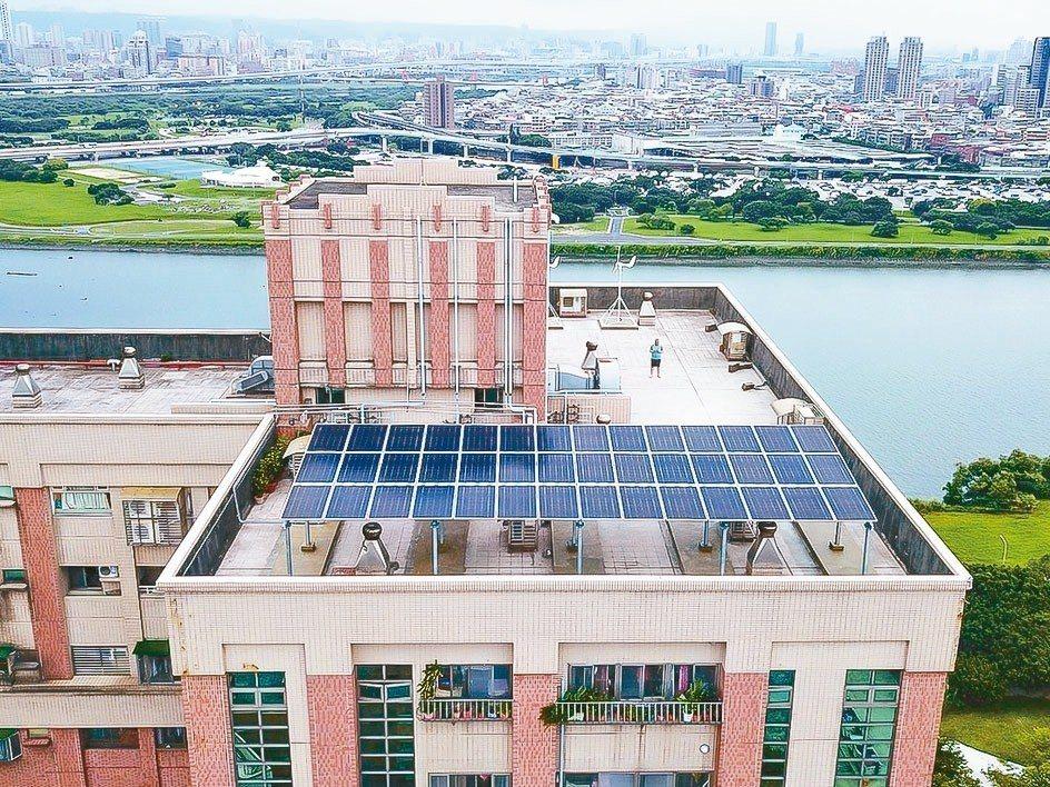 新北市永和及三重各有1座全國首創具「創能、儲能及節電」的智慧微電網私人社區。 圖...