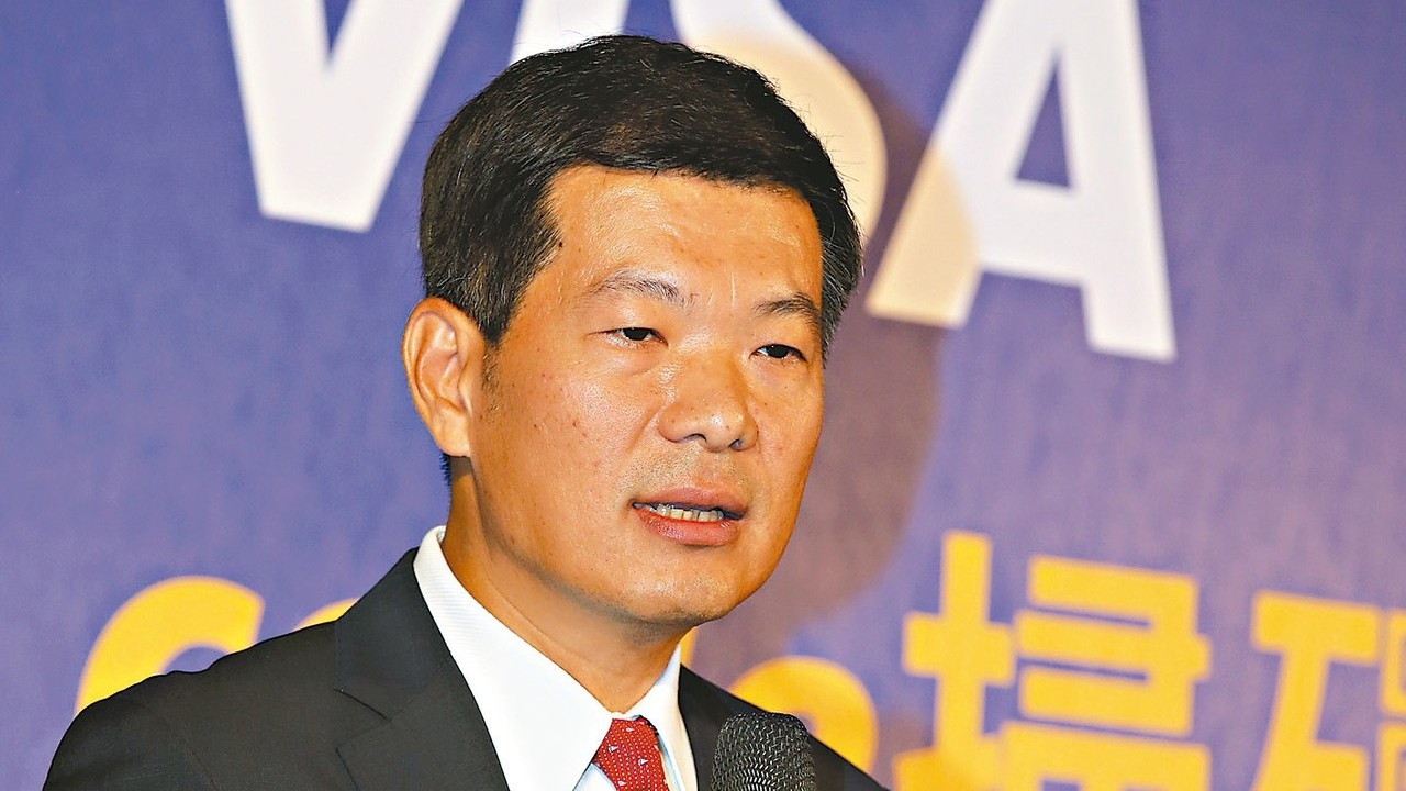 VISA「共通QR code掃碼支付」記者會,VISA台灣區總經理麻少華致詞。 ...
