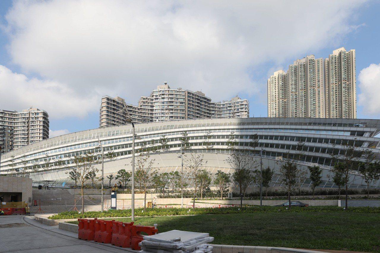 圖為廣深港高鐵西九龍站。中通社