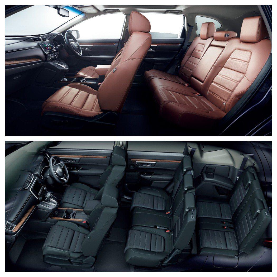 日規1.5升Honda CR-V車型,有五人座與七人座可選擇。 摘自Honda ...