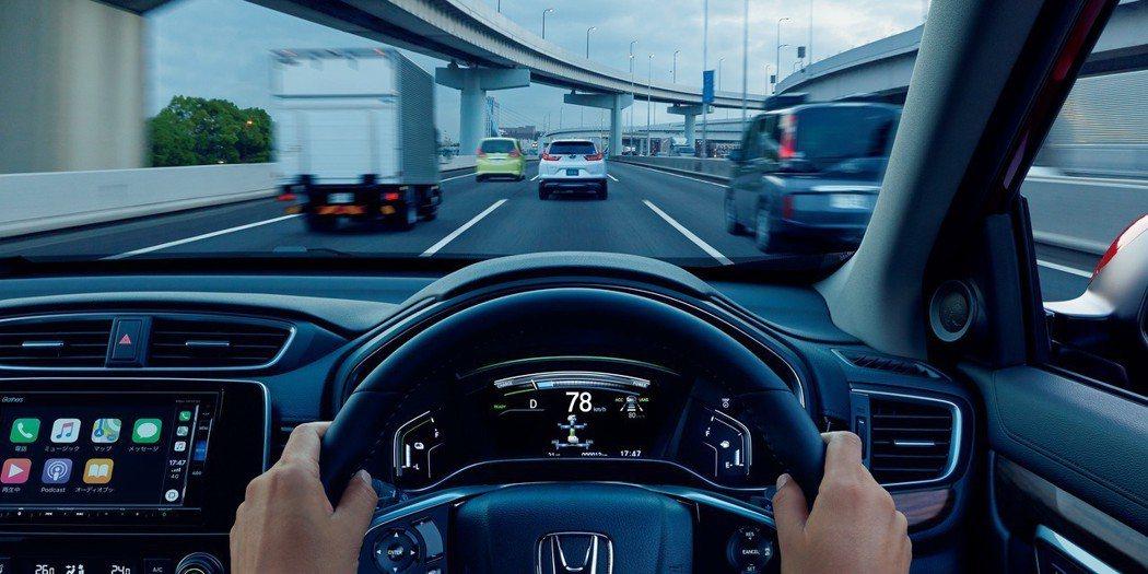 日規Honda CR-V全車系標配Honda SENSING。 摘自Honda ...