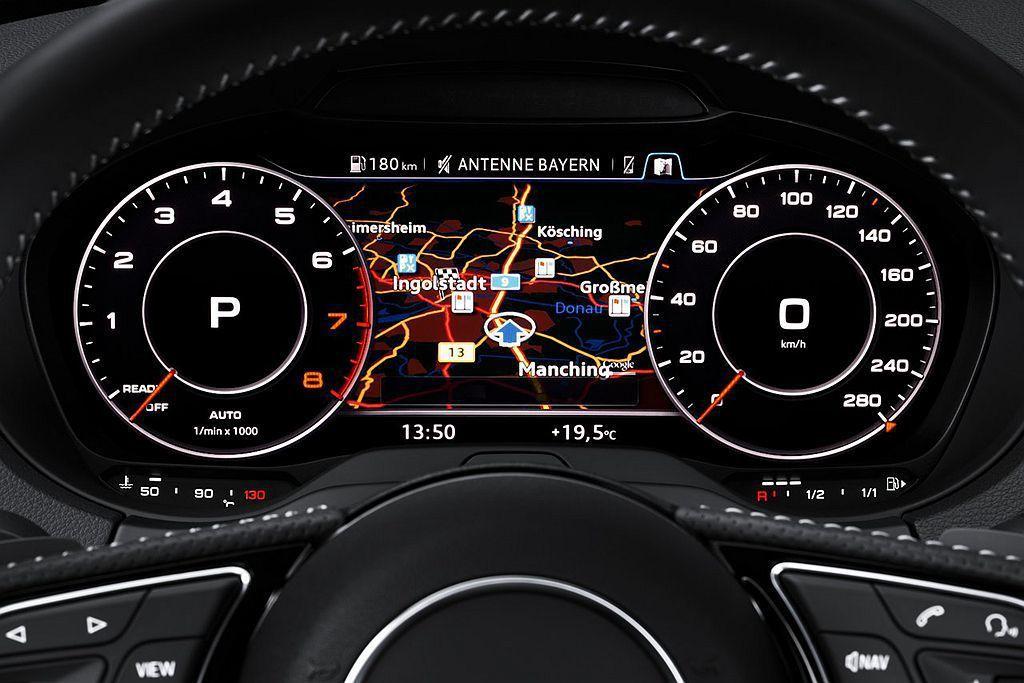 小改款Audi A3 Sportback將全數位虛擬駕駛座艙列為選配項目。 圖/...