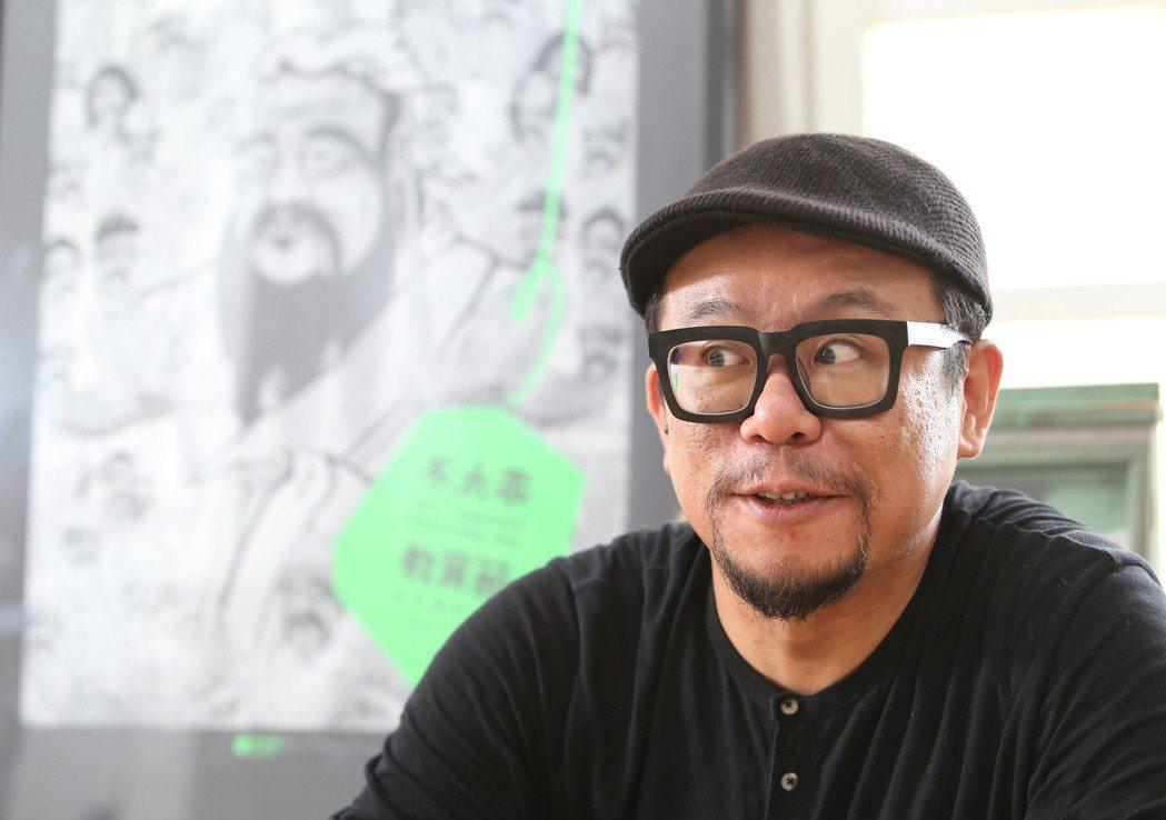 因為雜學展,蘇仰志常常到各國分享台灣的創新教育。 記者陳柏亨/攝影