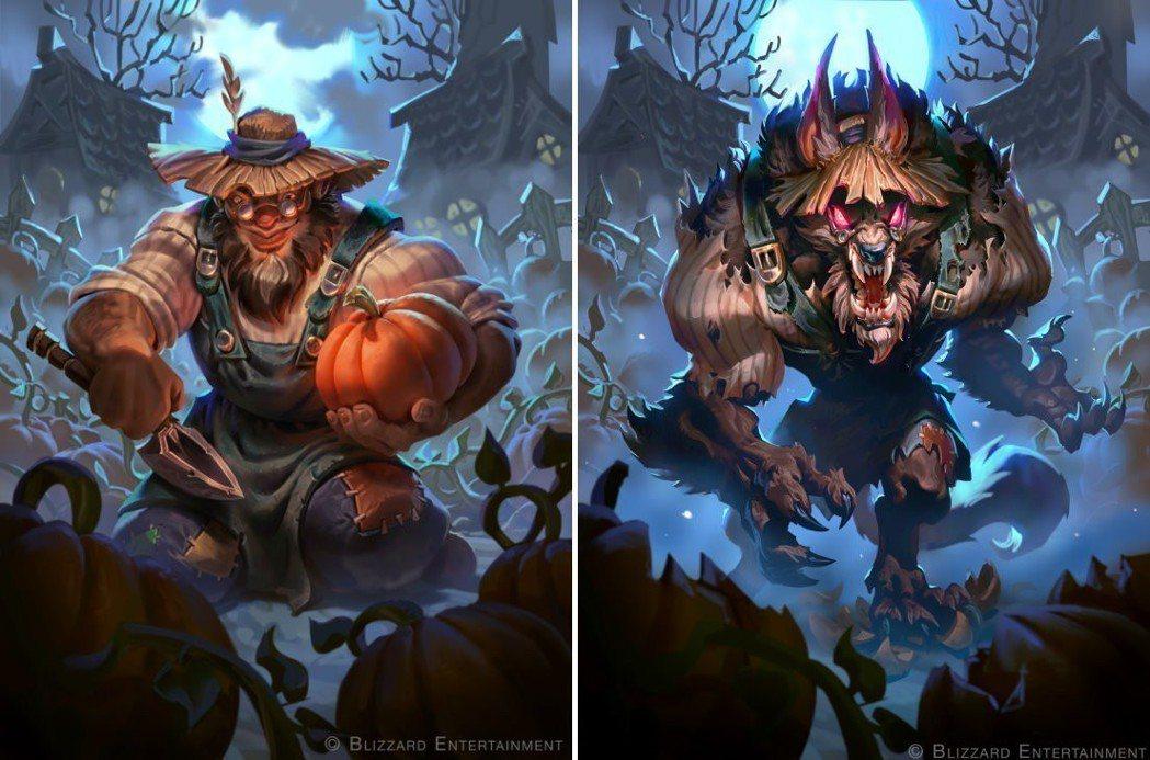 《爐石戰記:黑巫森林》卡牌 ─ 南瓜農夫