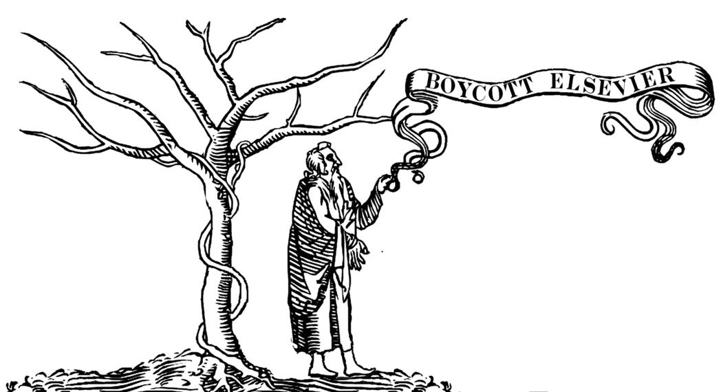 「抵制愛思唯爾。」愛思唯爾等國際知名的出版社,為了提高利潤,收取的紙質版和在線版...