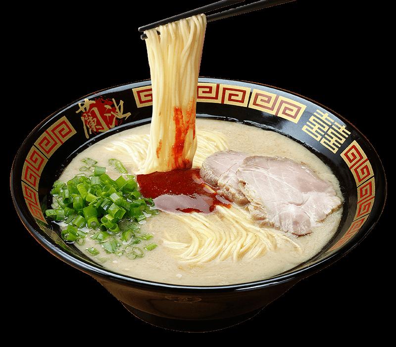 蘭池拉麵的天然豚骨拉麵,每碗28人民幣。圖/擷取自蘭池官網