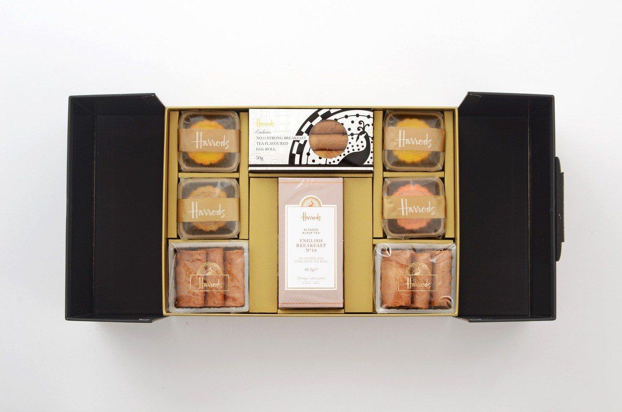 英式早餐茶搭配茶香口味創意月餅,禮盒售價1380元。 圖/Harrods提供