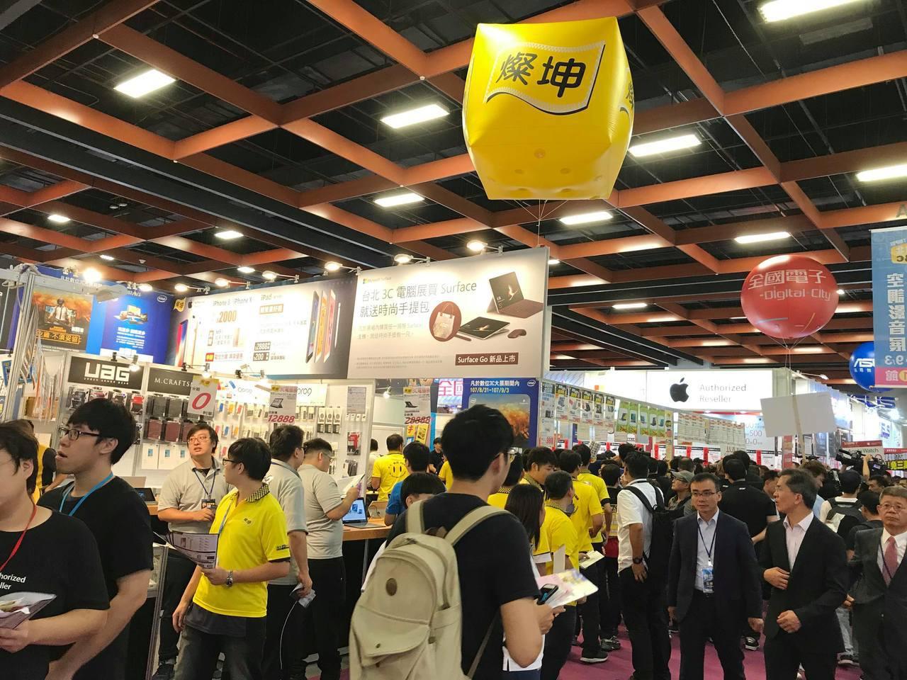 燦坤及全國電子參與台北3C展。記者蔡銘仁/攝影