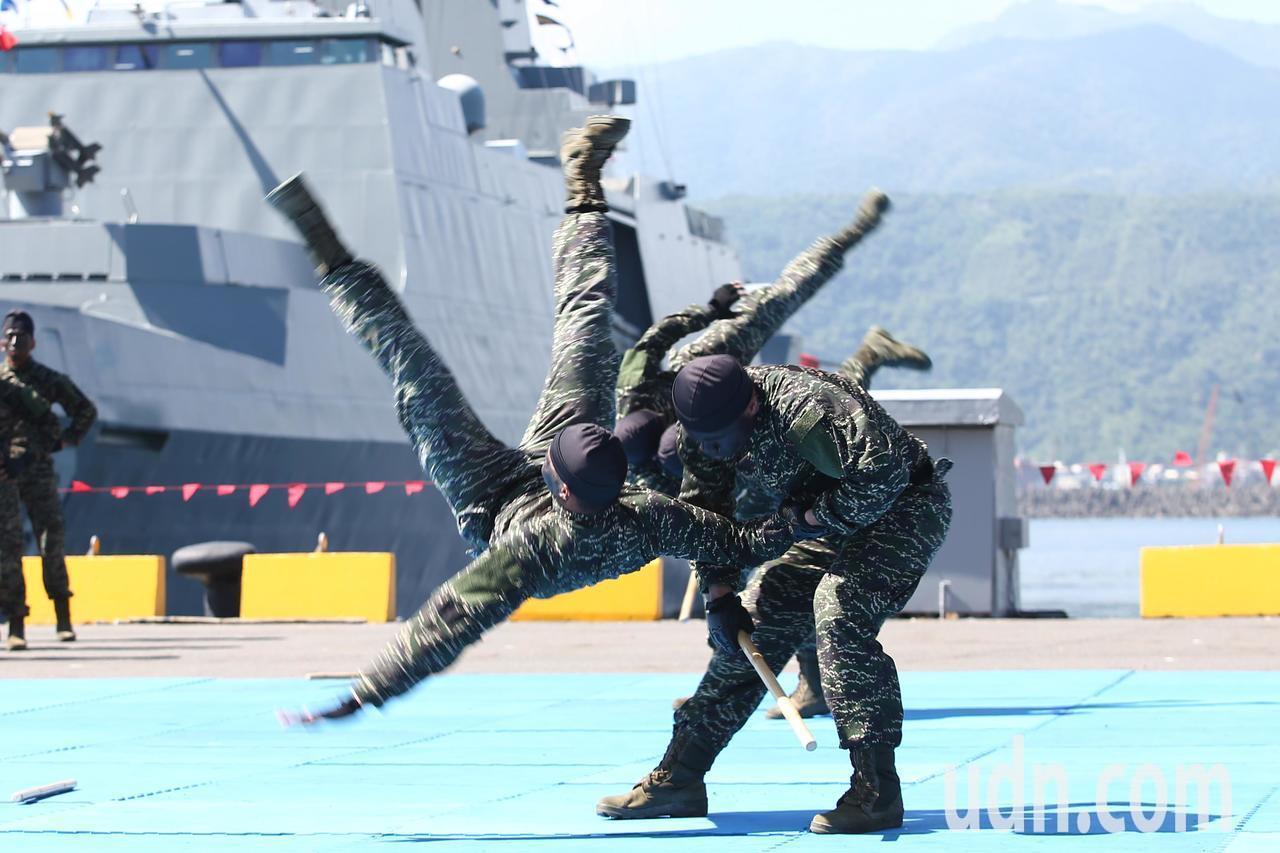 海軍陸戰隊特勤中隊隊員。聯合報系資料照/蘇健忠攝影