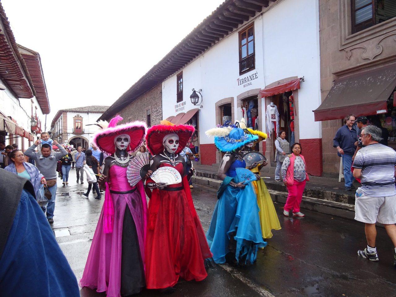 色彩繽紛殉麗的「墨西哥亡靈節」。圖/TripAdvisor提供
