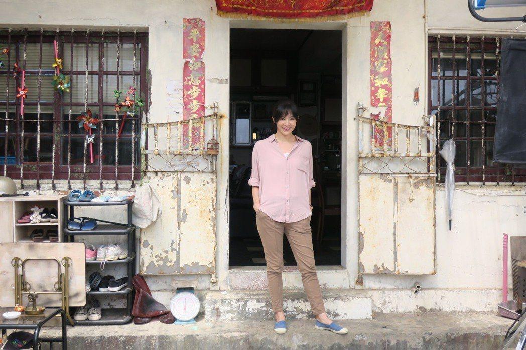 楊采妮來台拍新片「嗨!神獸」,玉女丰采依舊。記者蘇詠智/攝影