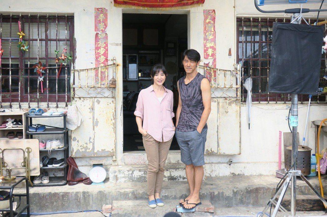 楊采妮和李李仁「嗨!神獸」演離異多年的前夫妻。記者蘇詠智/攝影