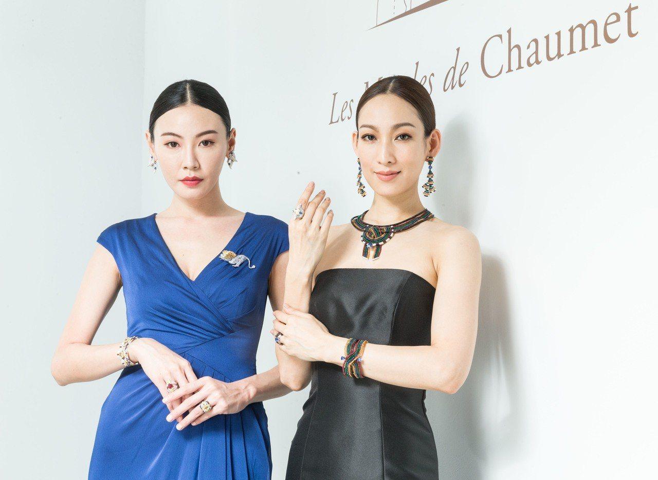 模特兒演繹CHAUMET「非域珍藏」篇章頂級珠寶,此次共展出總價逾12億的110...