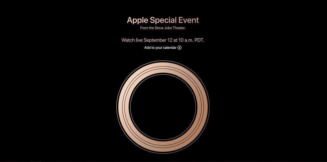 Apple正式發出活動邀請,並於官網公告,美國時間9月12日上午10點(台灣時間...