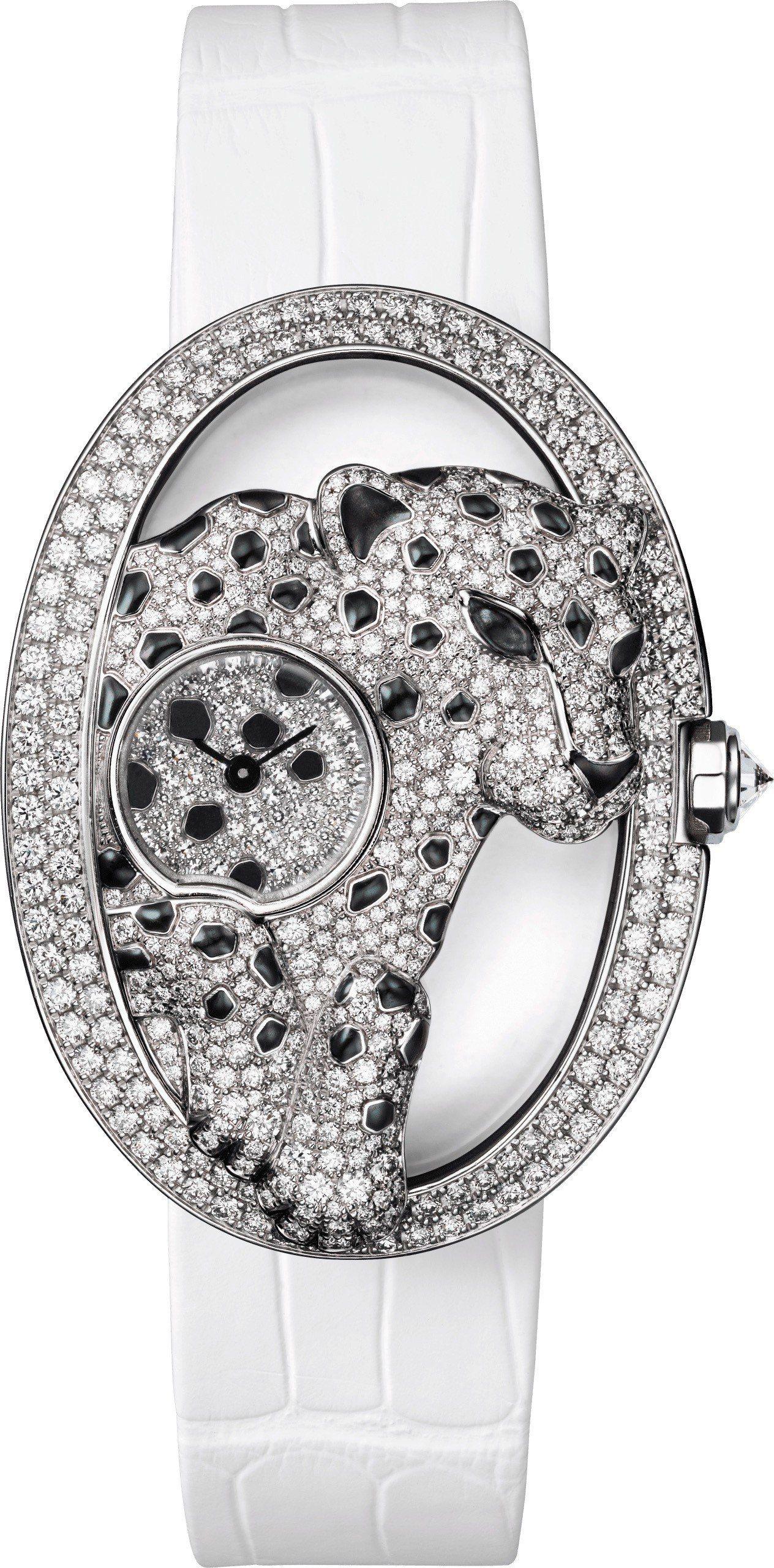 Panthère Ajourée de Cartier美洲豹腕表大型款,鍍銠18...