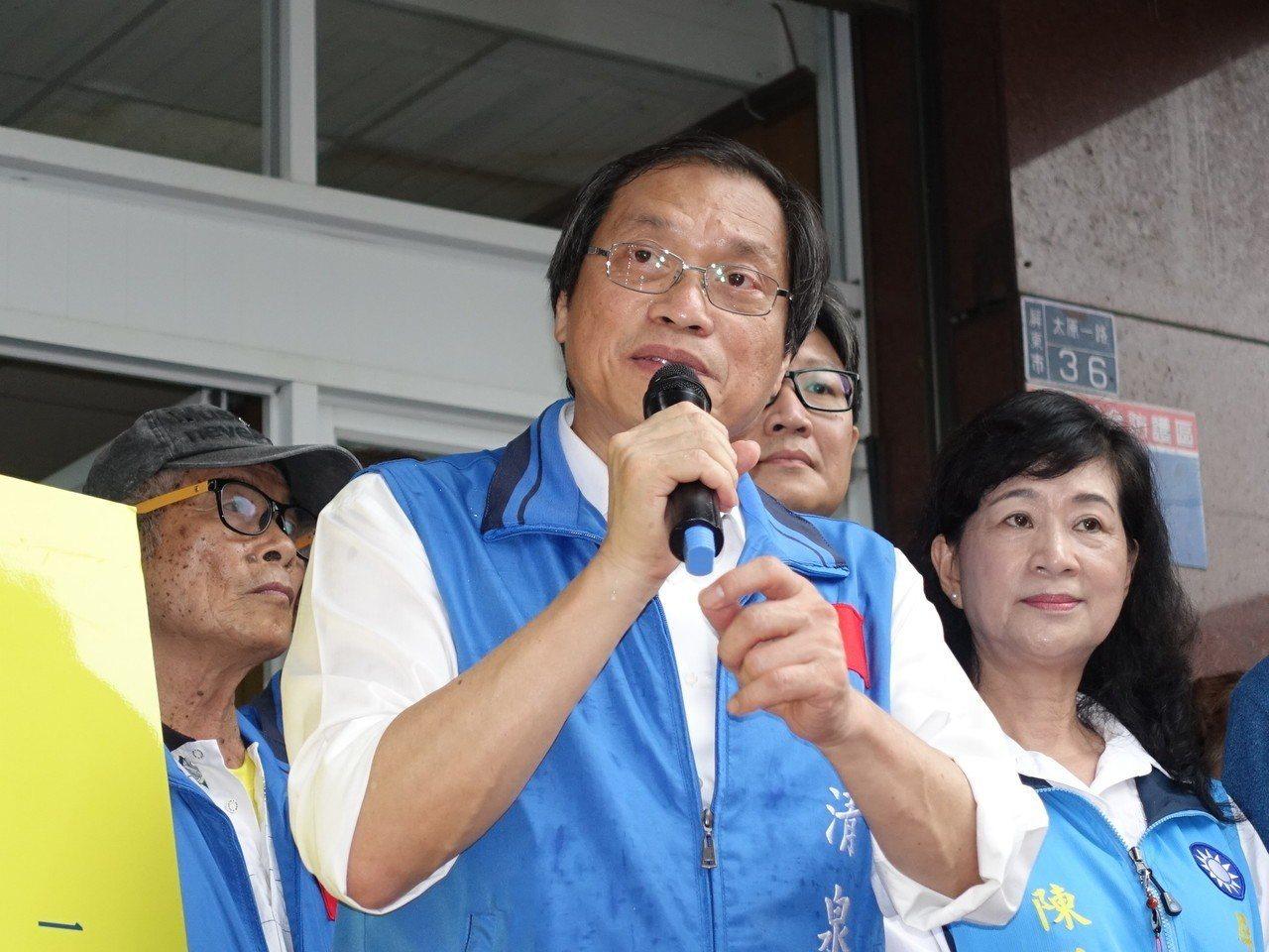 國民黨提名的屏東縣長參選人蘇清泉。記者翁禎霞/攝影