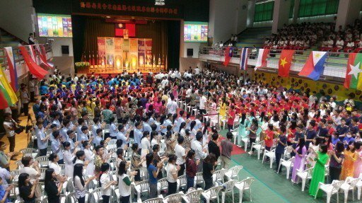 總統蔡英文去年曾特別南下高雄,出席東南亞僑生技職專班聯合開學典禮。本報資料照
