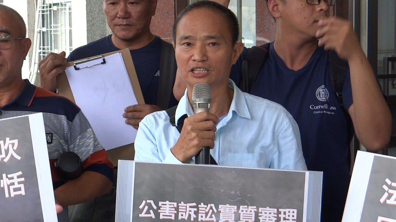 六輕被害家屬控訴六輕並痛斥司法程序不周延。記者蔡維斌/攝影
