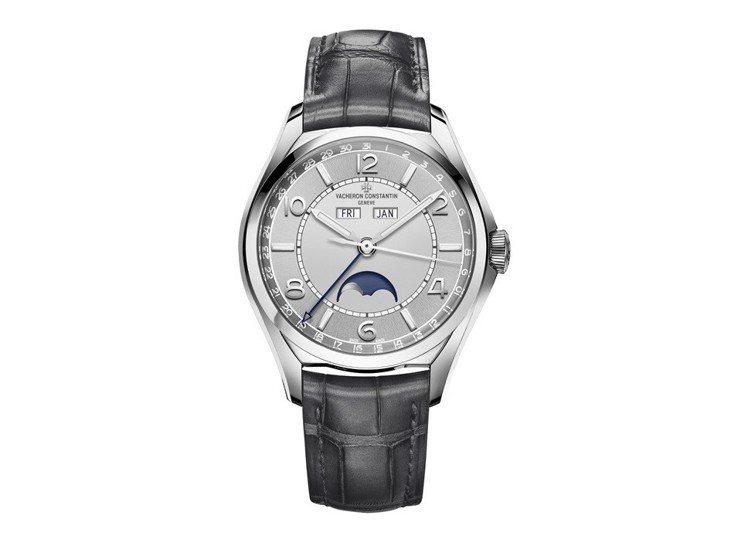 FIFTYSIX®系列精鋼全日曆精密月相腕表,69萬元。圖/江詩丹頓提供