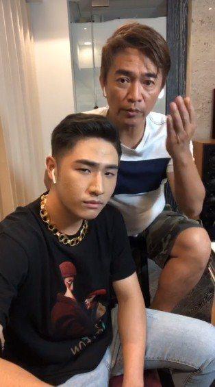 鹿希派開直播宣傳演唱會,爸爸吳宗憲還入鏡反擊酸民。圖/擷自臉書。