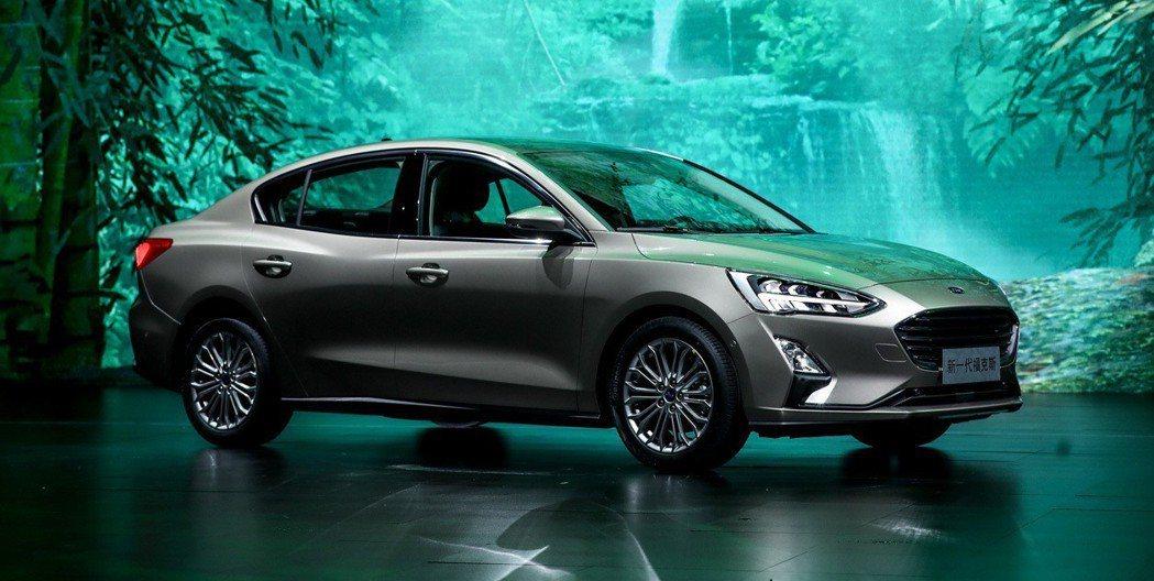 新世代Ford Focus四門版。 摘自長安福特