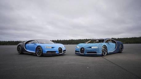 影/樂高就是狂! 1:1等身的Bugatti Chiron模型車 還能開上路!