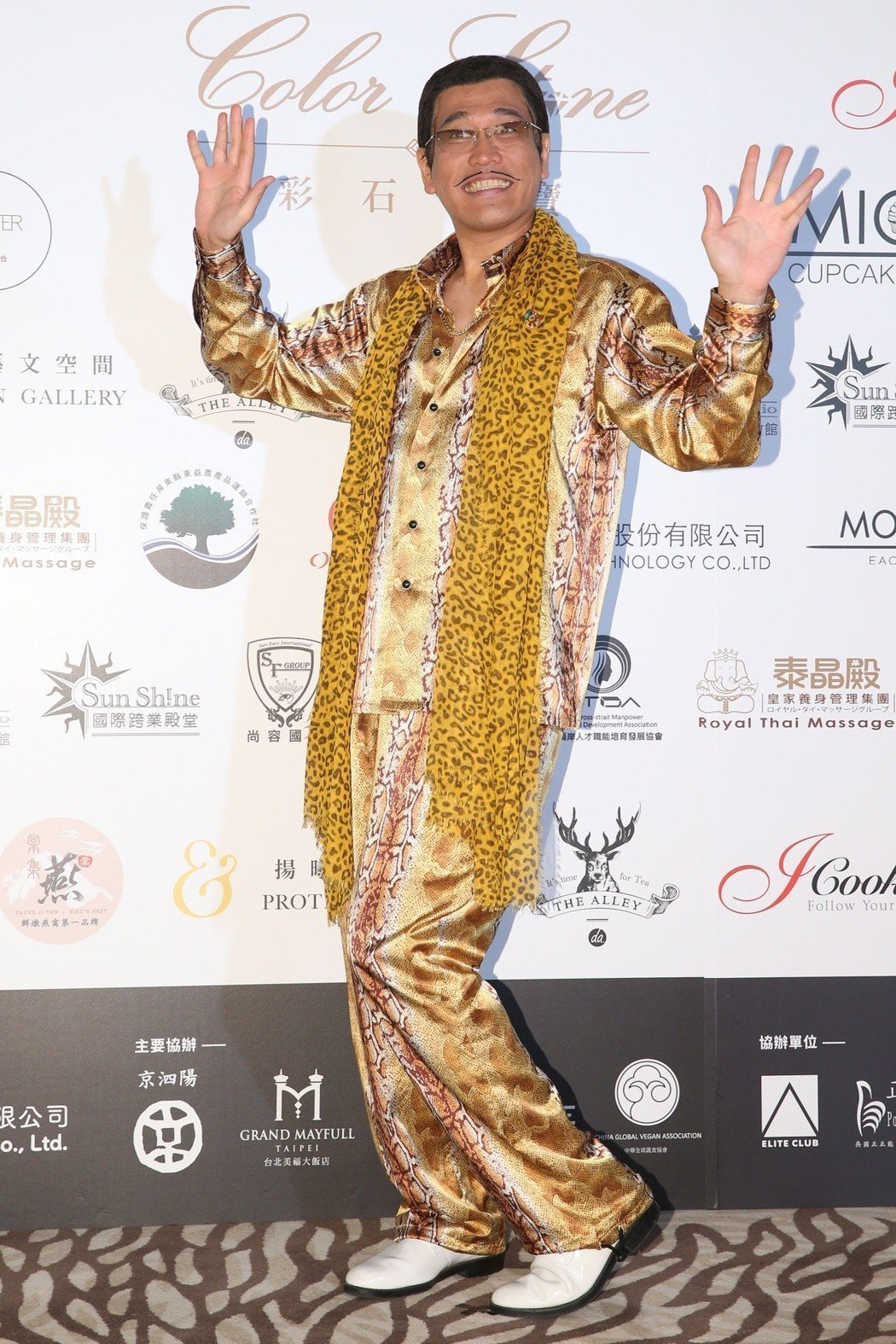PIKO太郎出席亞太影展彩石之夜,並表示他很喜歡台灣。記者葉信菉/攝影