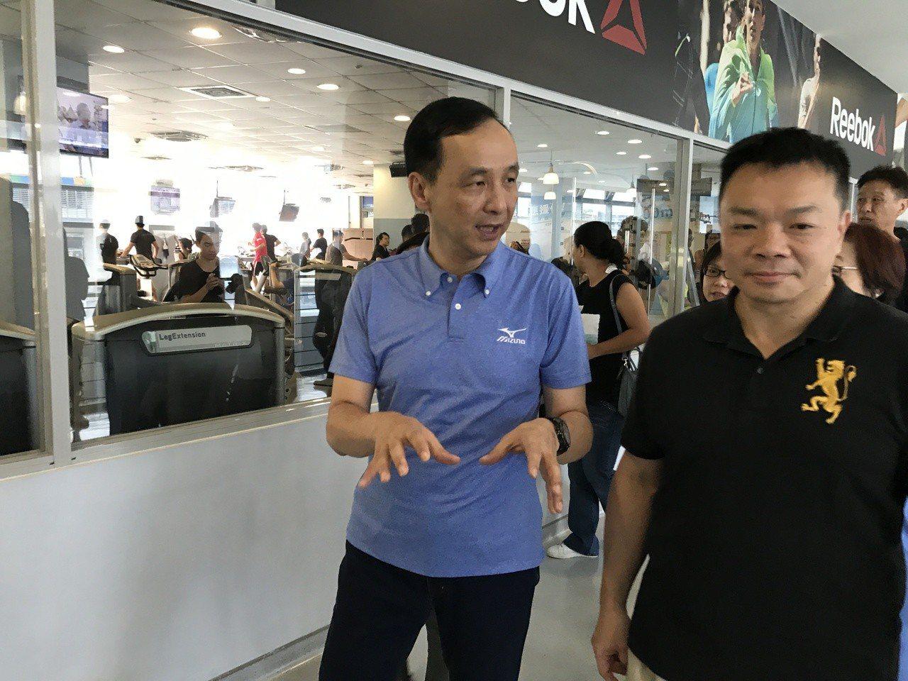 台南市長候選人高思博今天到新北市向姐夫市長朱立倫請益。記者陳珮琦/攝影