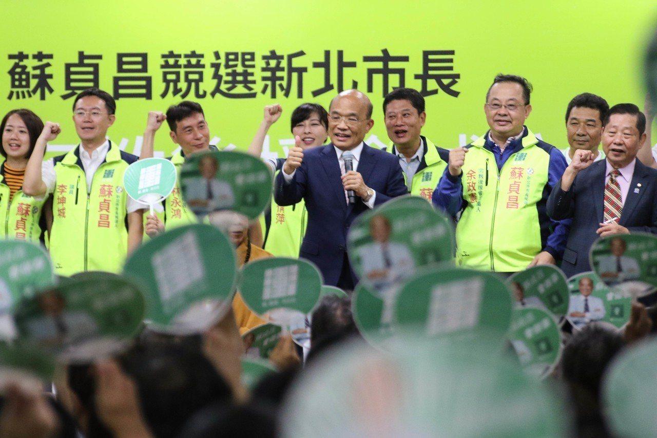 民進黨新北市長參選人蘇貞昌今參加宗教後援會成立大會。記者王敏旭/攝影