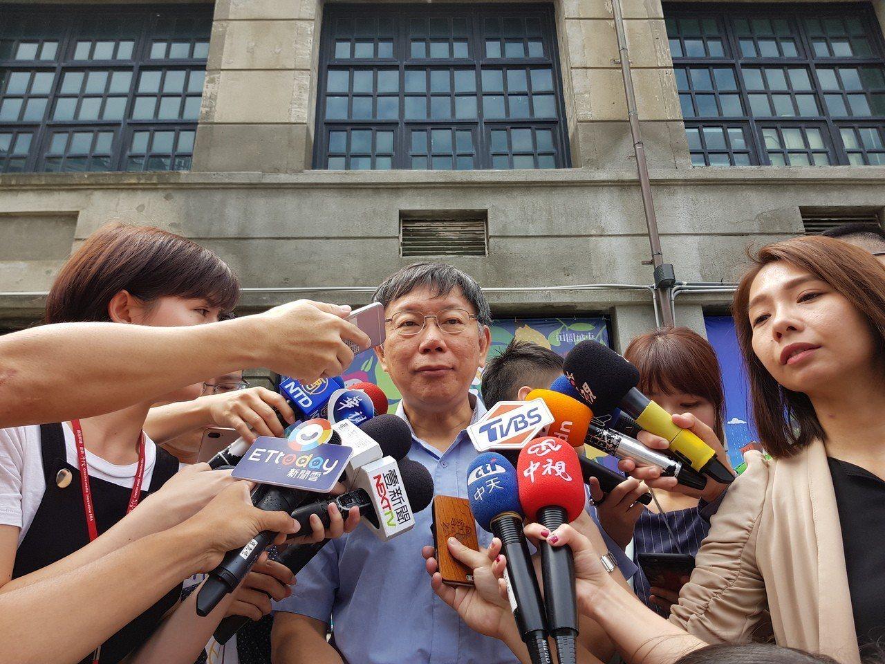 台北市長柯文哲。聯合報系記者翁浩然/攝影