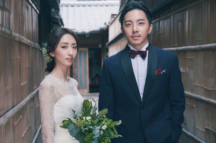 謝坤達、柯佳嬿重回第一次甜蜜之旅地「京都」拍攝婚紗照。圖/有聲娛樂提供