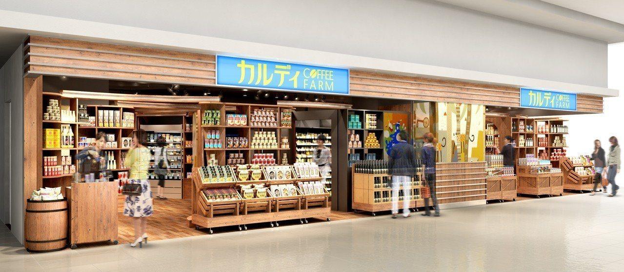 咖樂迪咖啡農場2號店櫃位大小約30坪。圖/統一時代百貨提供