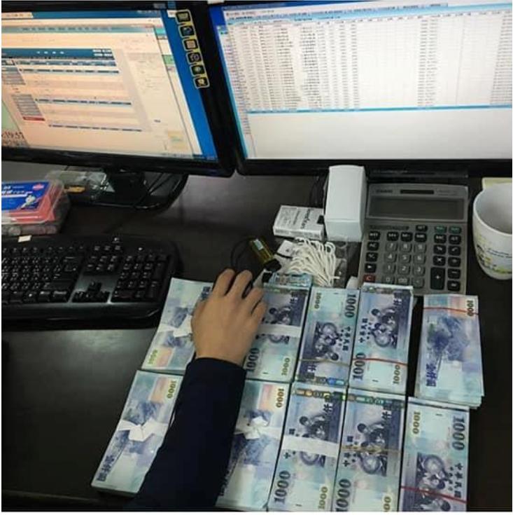 賭博網站在網路上當天照片炫富引起警察注意,進而破獲網路賭博站。記者姜宜菁/翻攝