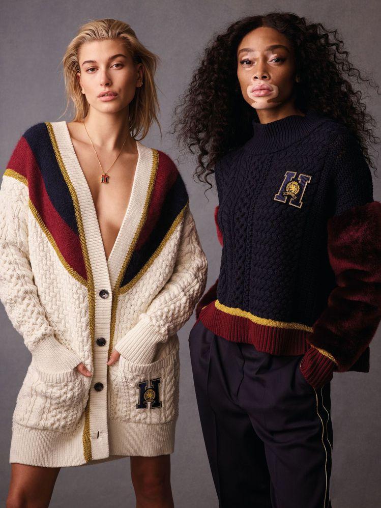 TOMMY ICONS限量系列由模特兒海莉鮑德溫和溫妮哈洛演繹。圖/Tommy ...