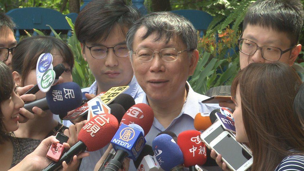 台北市長柯文哲的支持者、批評者常掀起激烈論戰。 圖/聯合報系資料照片