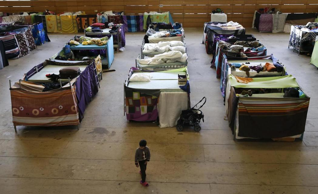德國柏林一處難民收容中心。 (路透)