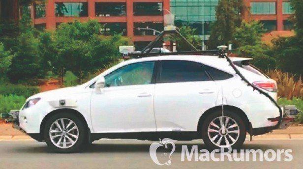 外媒MacRumors去年在推特貼出的蘋果自駕車照片。 圖/取自MacRumor...