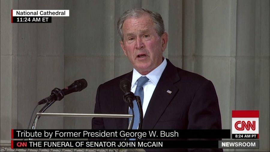 美國前總統小布希讚美馬侃讓他成為更好的人。取材自CNN網站