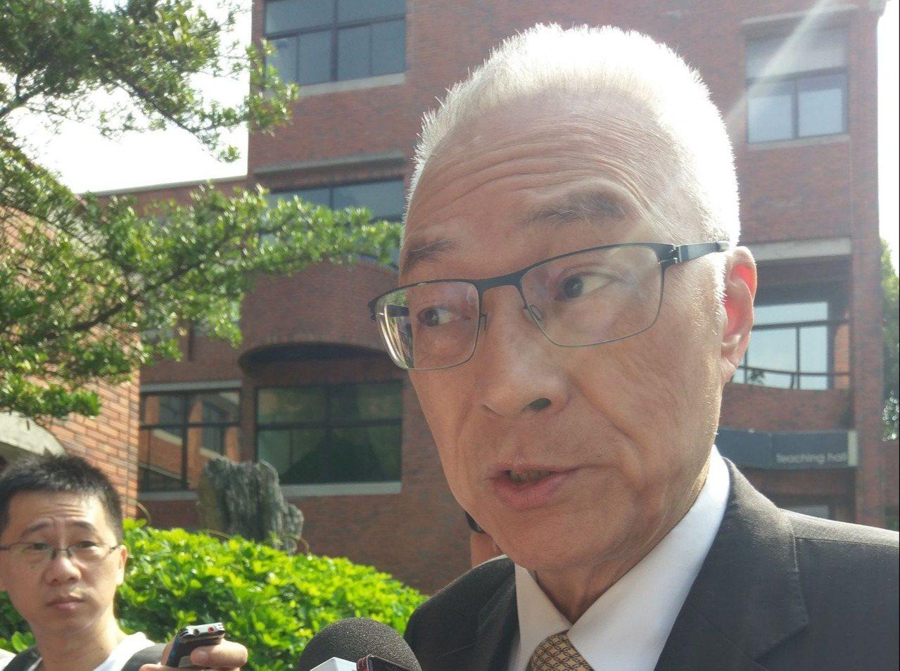 國民黨主席吳敦義。 圖/聯合報系資料照片